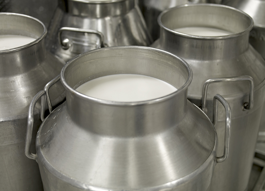 metal milk jugs